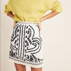CARYS EMBROIDERED SKIRT - NWOT